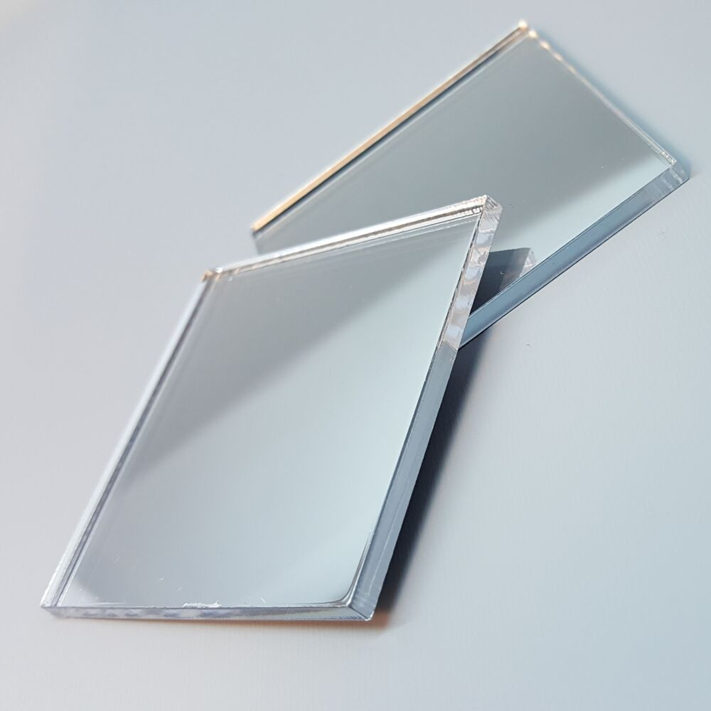 Shatterproof acrylic mirror in square shape 1 to 10 inches Square narrow shape acrylic