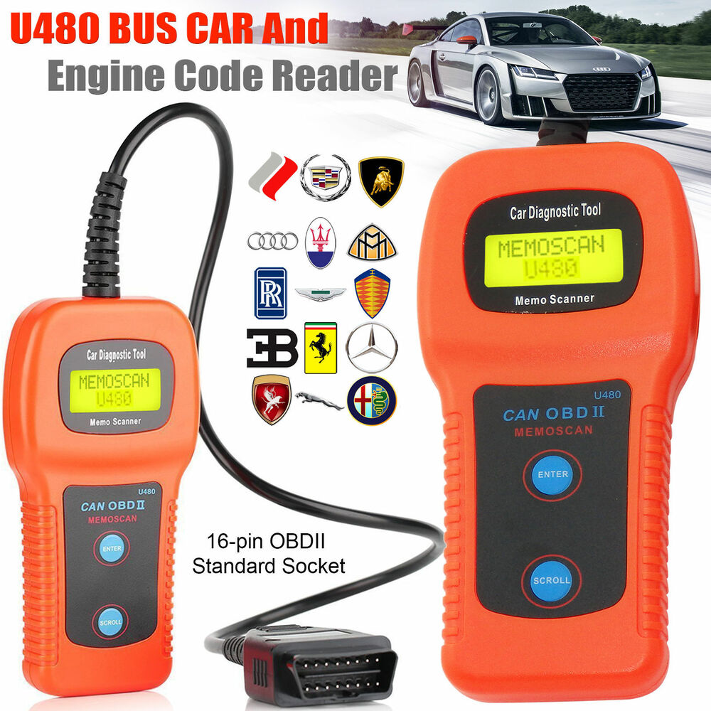 U480 Car Diagnostic Scanner Engine Fault Code Reader CAN