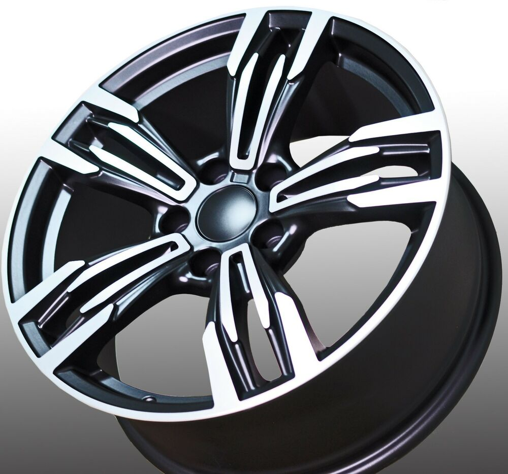 18 Quot M6 Style Staggered Black Wheels Rims Fits Bmw 1 2 3 4