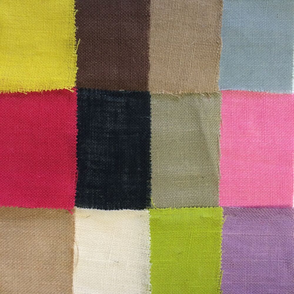 Burlap fabric 60 wide 100 jute many colors by the yard for Colored burlap fabric