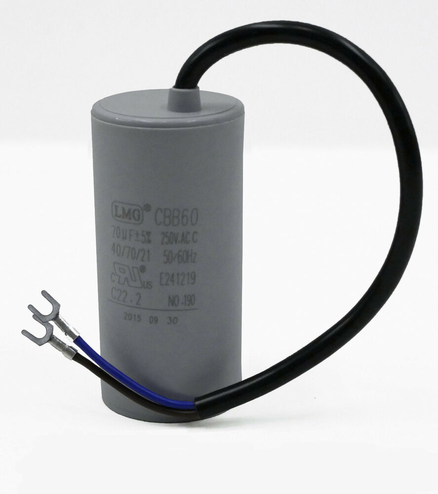 High quality 70uf mfd run capacitor 250 volt motor round for Motor start capacitor test