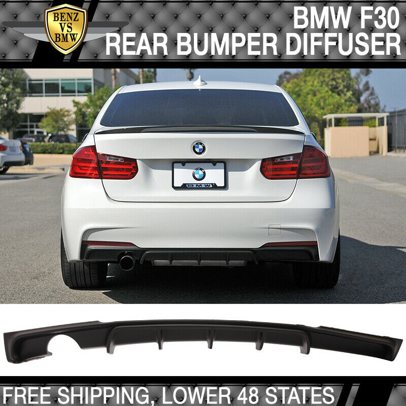 Fit 12 18 Bmw F30 M Performance Style Rear Diffuser Single Outlet Pp