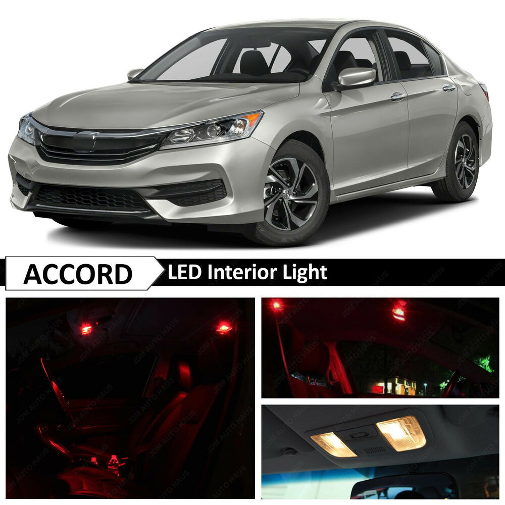 16x red interior led lights package kit for 2013 2017 honda accord ebay. Black Bedroom Furniture Sets. Home Design Ideas
