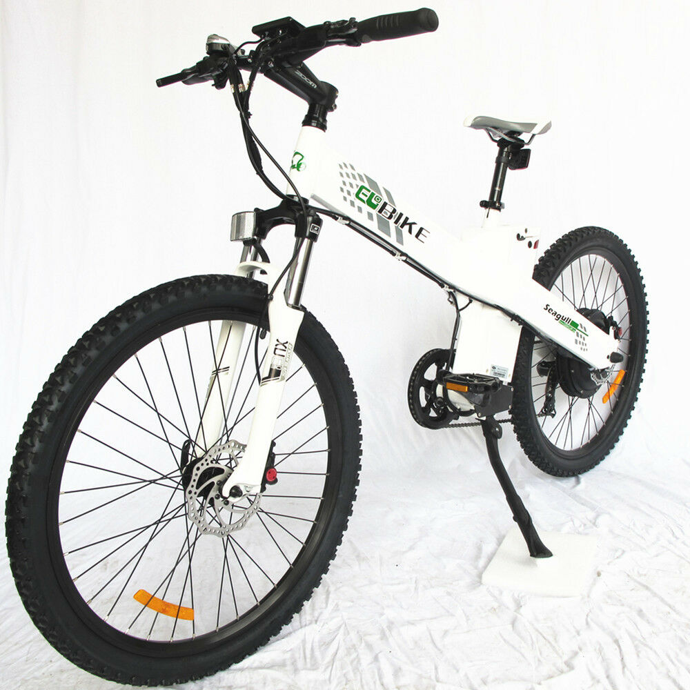 26 electric city e bike bicycle 1000w 48v white lithium. Black Bedroom Furniture Sets. Home Design Ideas