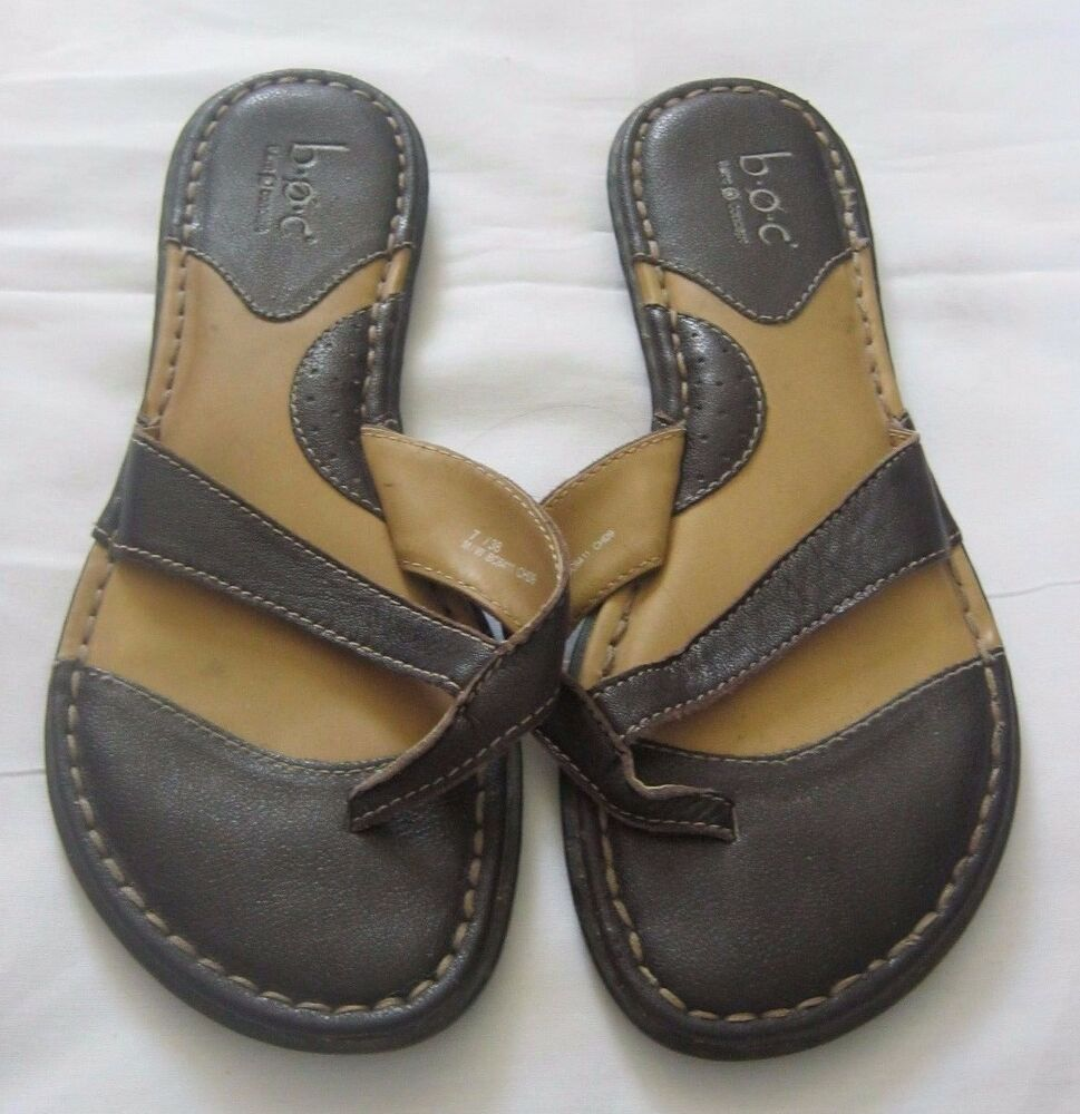 Womens Sandals Shoes Boc Born Size 7 Eur 38 Brown Leather