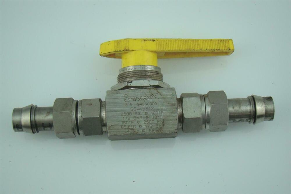 Swagelok stainless steel valve compression connection