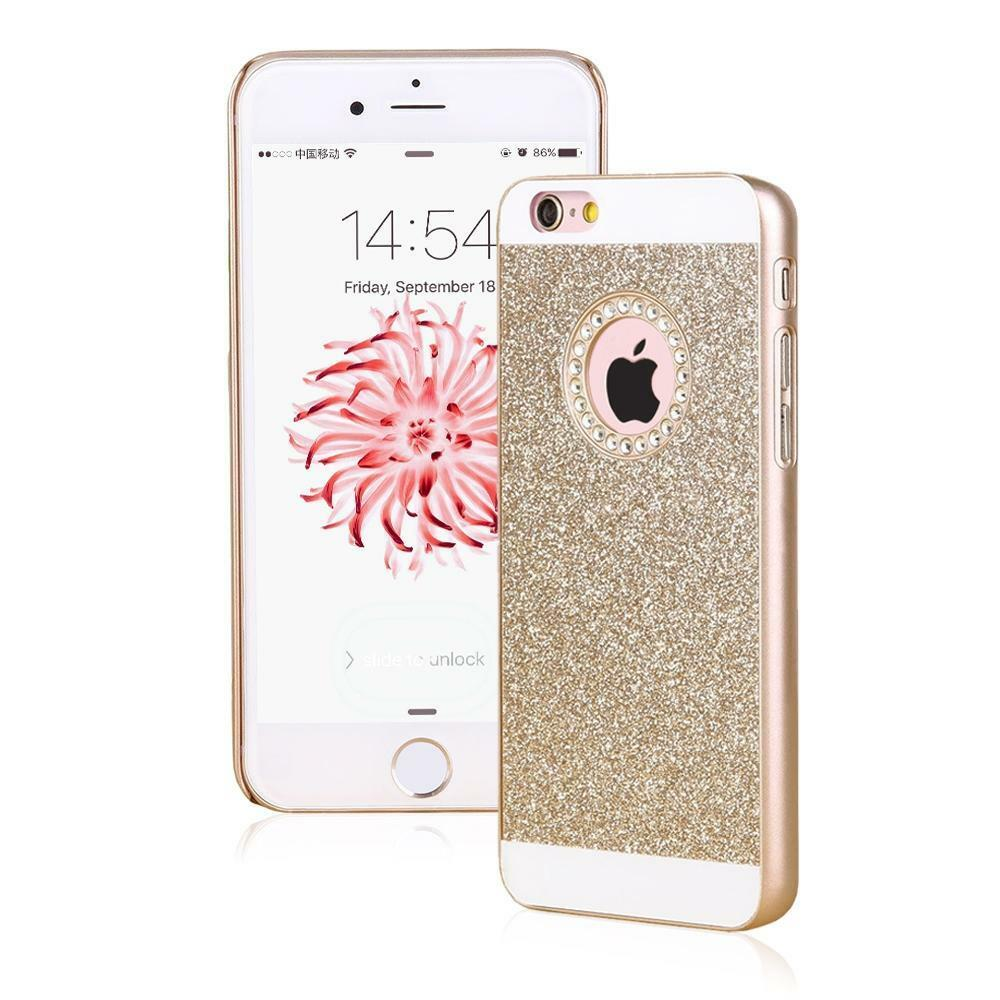 iphone 6 phone cases luxury bling glitter back phone cover 15013