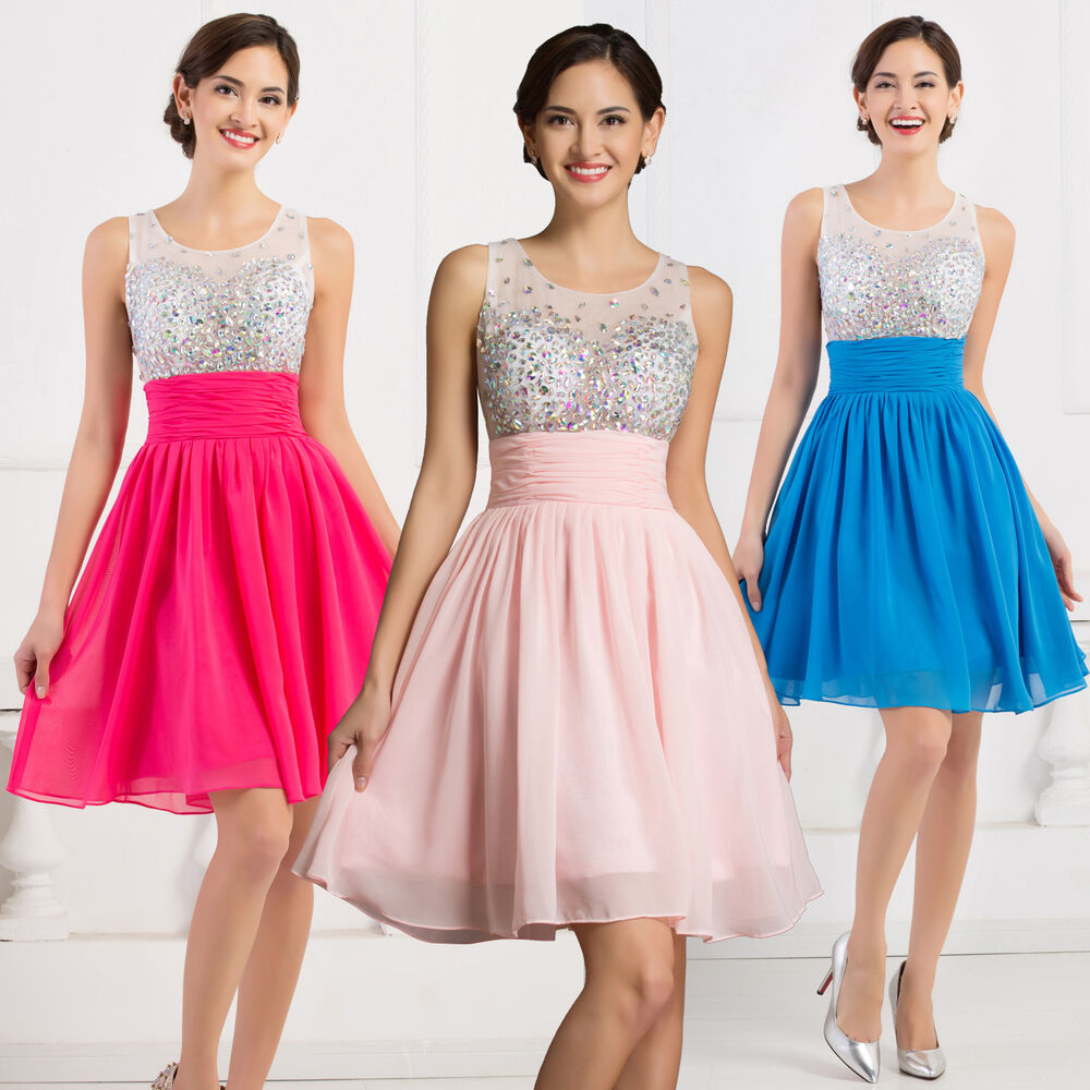 Teens Beaded Short Graduation Party Dress Homecoming Prom ...