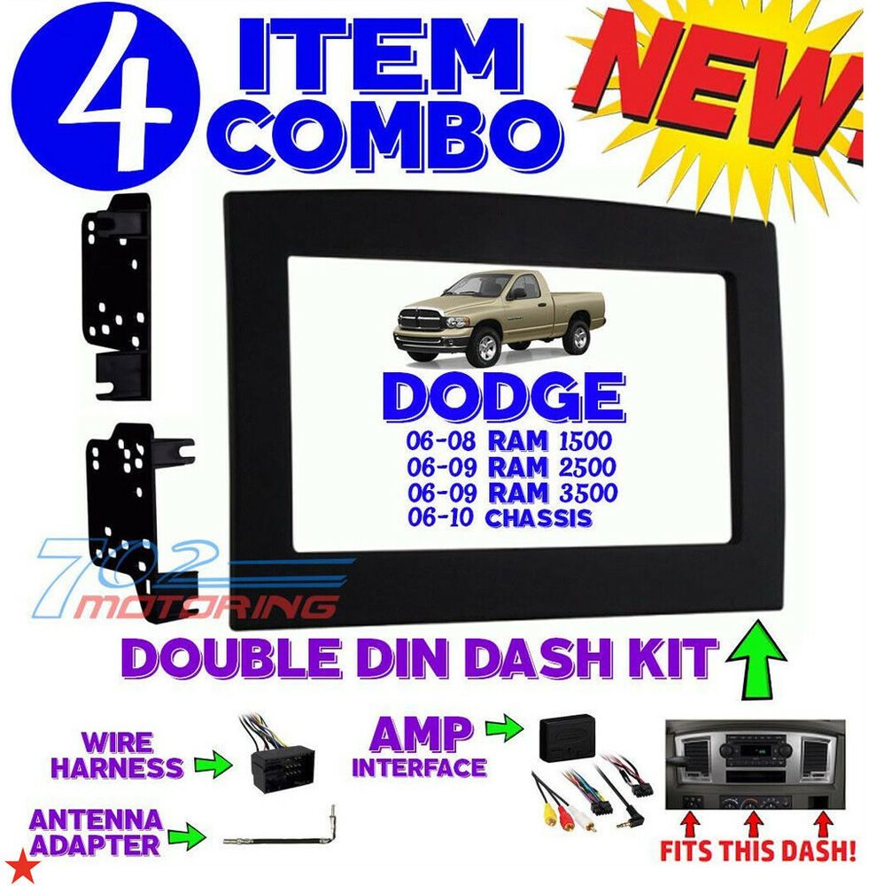 s l1000 06 07 08 09 10 dodge ram infinity stereo radio double din  at fashall.co