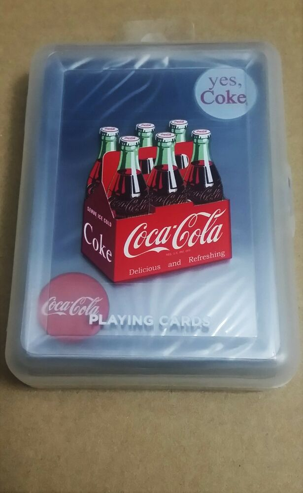 coca cola clear playing cards plastic deck 100 waterproof ebay. Black Bedroom Furniture Sets. Home Design Ideas