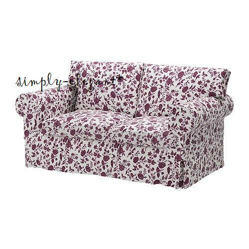 Ikea Cover For Ektorp Loveseat 2 Seat Sofa Slipcover Floral Hovby Lilac New Ebay