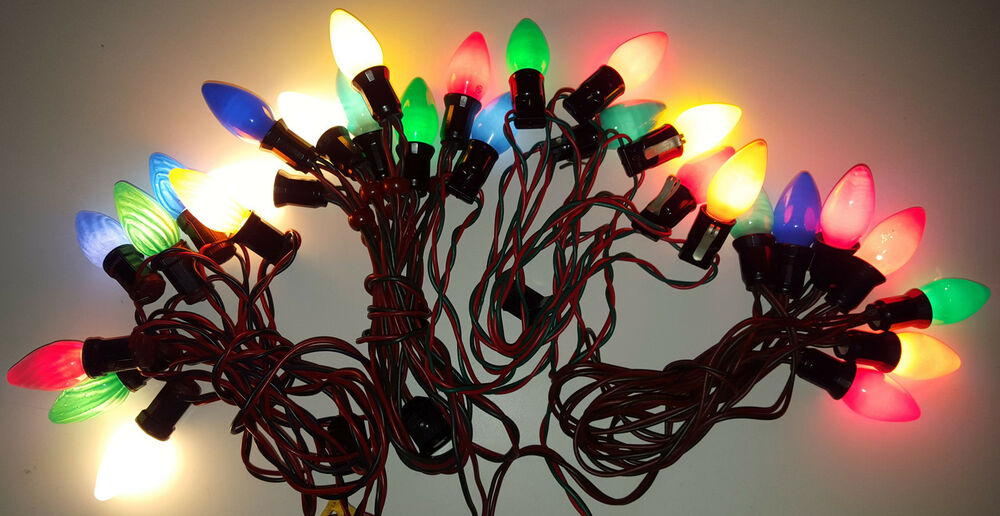 Noma Party String Lights : NOMA VINTAGE CHRISTMAS LIGHTS 4 STRINGS BIG C9 BULBS FLAME GE WESTINGHOUSE eBay