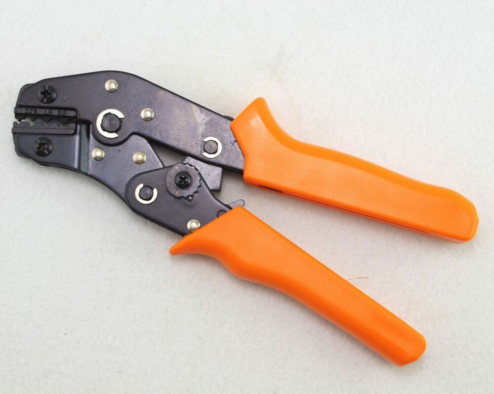 non insulated terminals crimping tool plier crimper awg 20 14 ebay. Black Bedroom Furniture Sets. Home Design Ideas