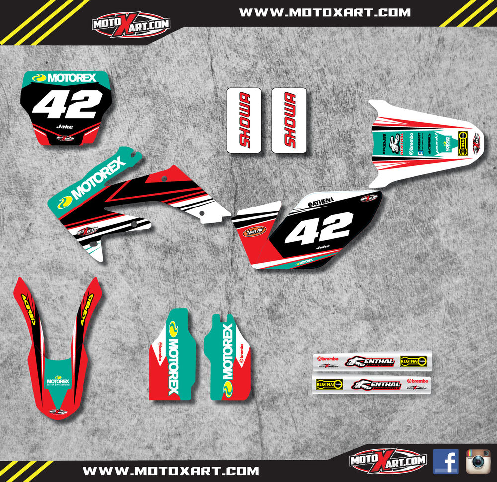 Details about custom graphics full kit for honda crf 250 2007 2009 strike style stickers