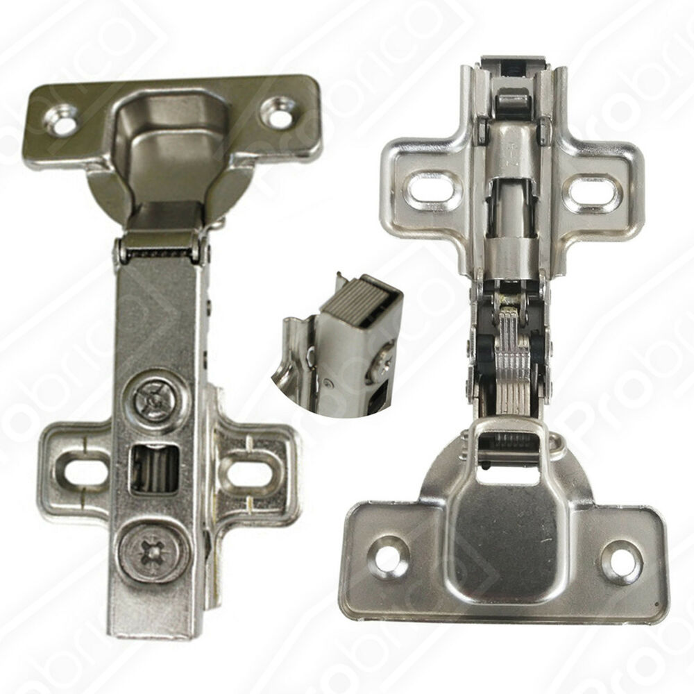 concealed kitchen cabinet door hinges full overlay soft close self closing 5pair ebay. Black Bedroom Furniture Sets. Home Design Ideas