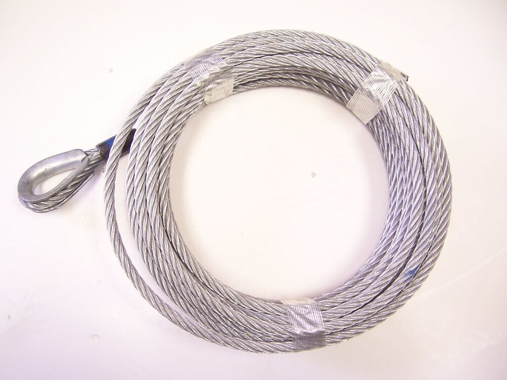 3 8 Steel Cable : Quot ft galvanized wire rope winch cable ebay