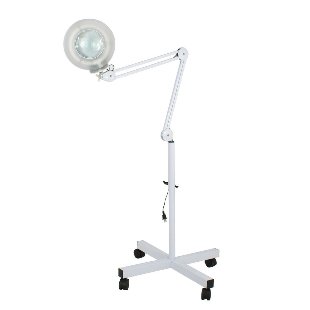 floor stand magnifier lamp mag light magnifying glass lens ebay. Black Bedroom Furniture Sets. Home Design Ideas
