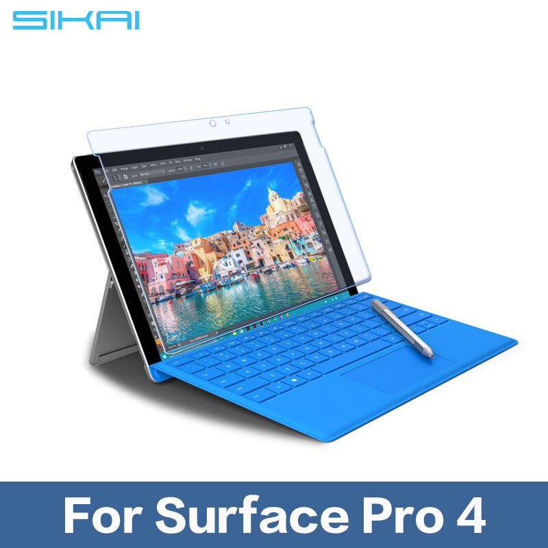 2016 100 premium tempered glass screen protector for microsoft surface pro 4 ebay. Black Bedroom Furniture Sets. Home Design Ideas