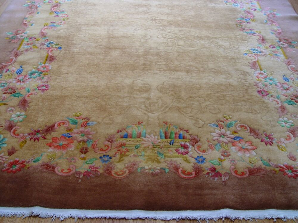 Chinese Washed Rugs 8 10 Quot X 12 Antique Art Deco Chinese