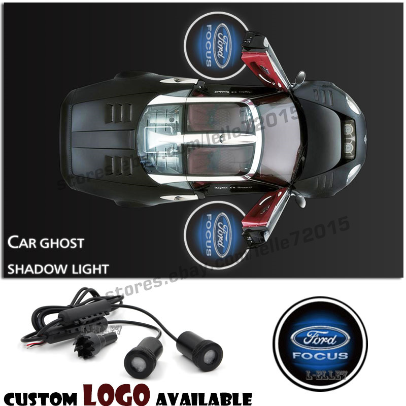 2pcs Ghost Shadow Car Door Logo Led Laser Welcome