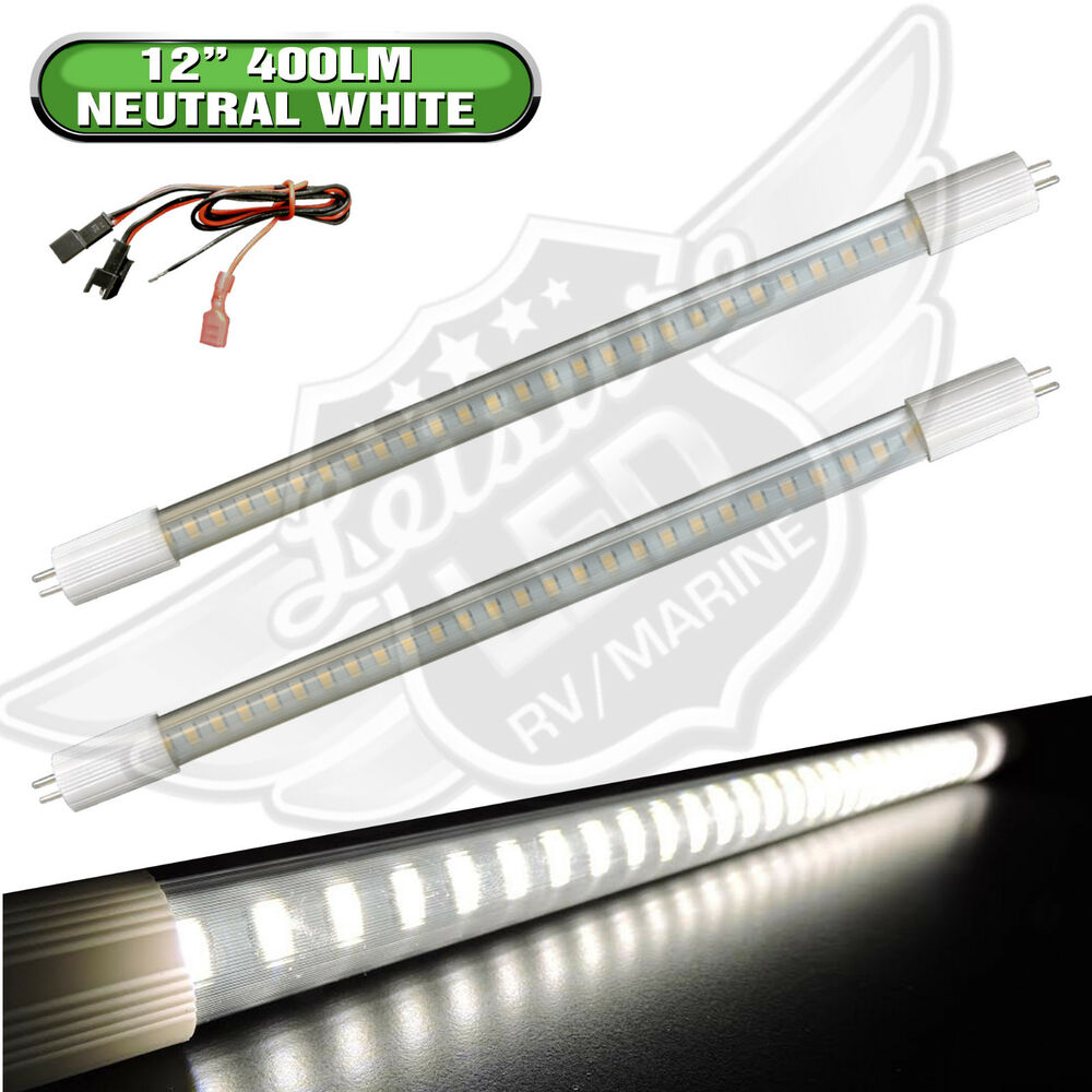2 x rv light bulb t5 12 fluorescent tube replacement led. Black Bedroom Furniture Sets. Home Design Ideas