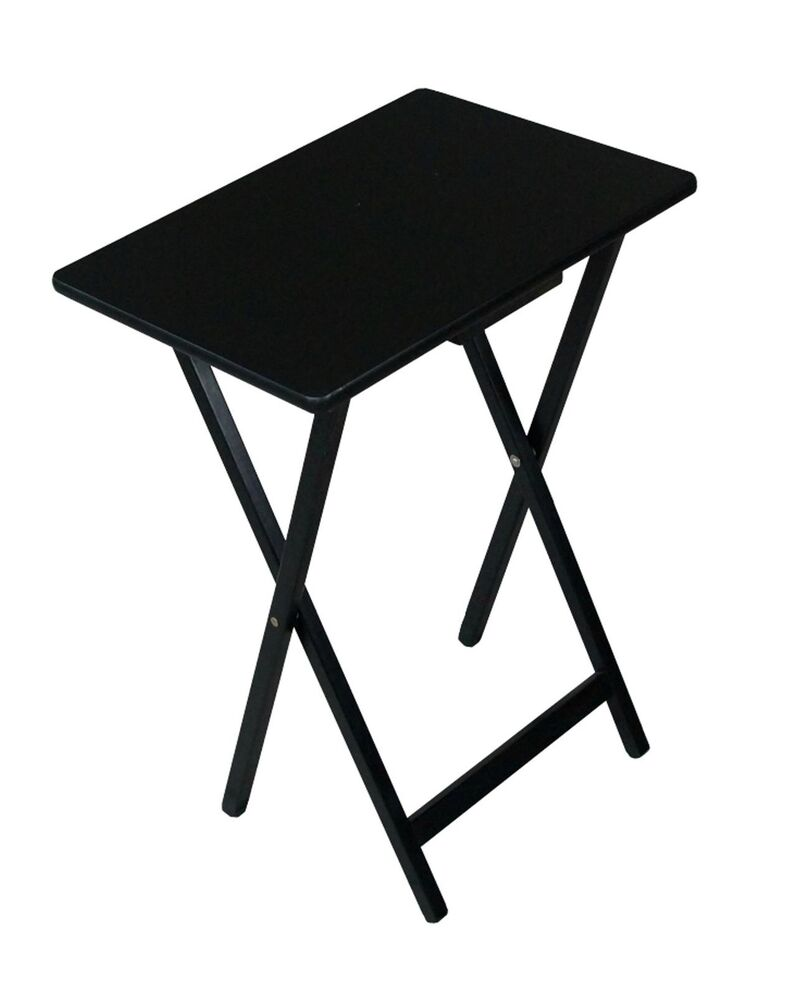 Folding Wooden Tv Tray Table Black Folding Furniture