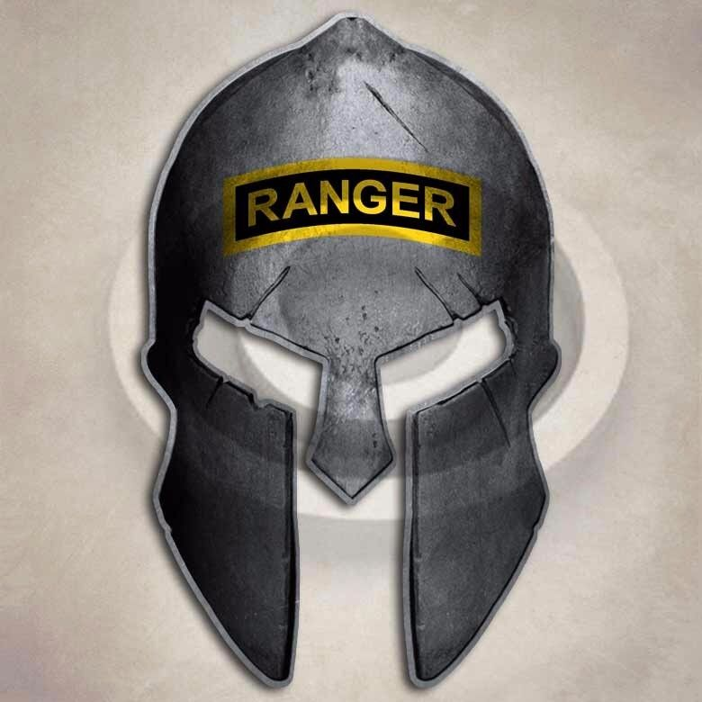 Army Ranger Spartan Helmet Sticker Military Special Forces ...