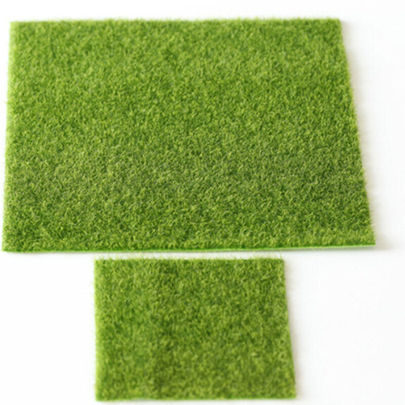 New artificial lawn garden ornament figurine craft plant for Faux grass for crafts