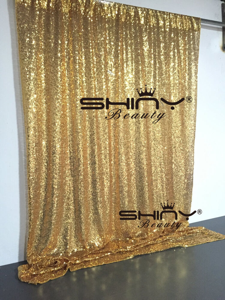 4ft 6ft Gold Sequin Photo Backdrop Wedding Photo Booth