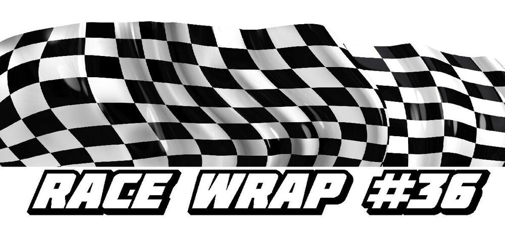 Race Car Graphics 36 Half Wrap Vinyl Decal Imca Late