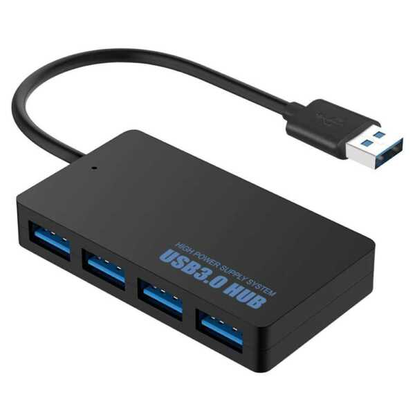 Moltiplicatore Hub Splitter 4 Porte Femmina USB 3.0 per PC Computer Superspeed