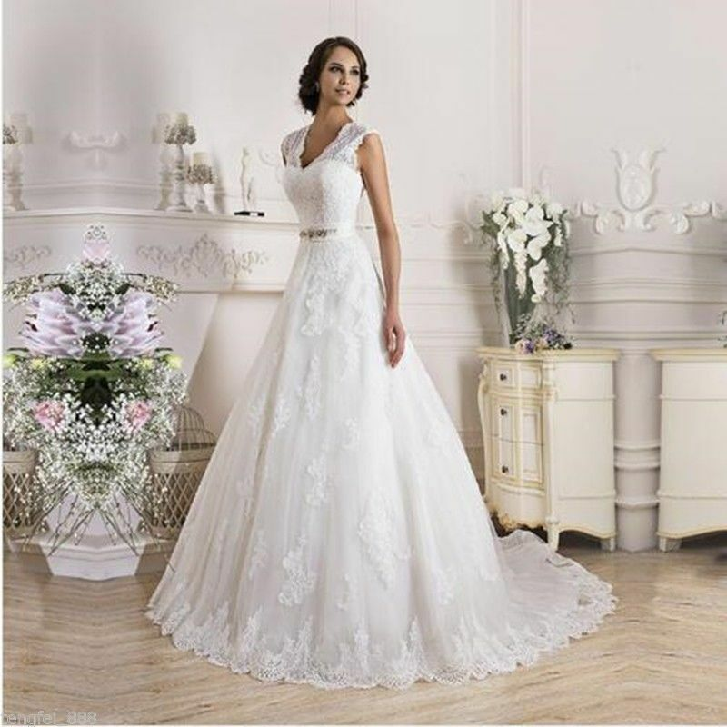 ivory wedding dress bridal gown size 4 6 8 10 12 14 16 18 ebay