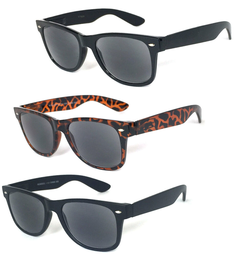 retro square frame sun readers reading sunglasses tinted