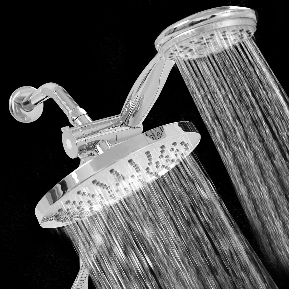 double shower head 3 way shower combo setting luxury handheld ultra 29653