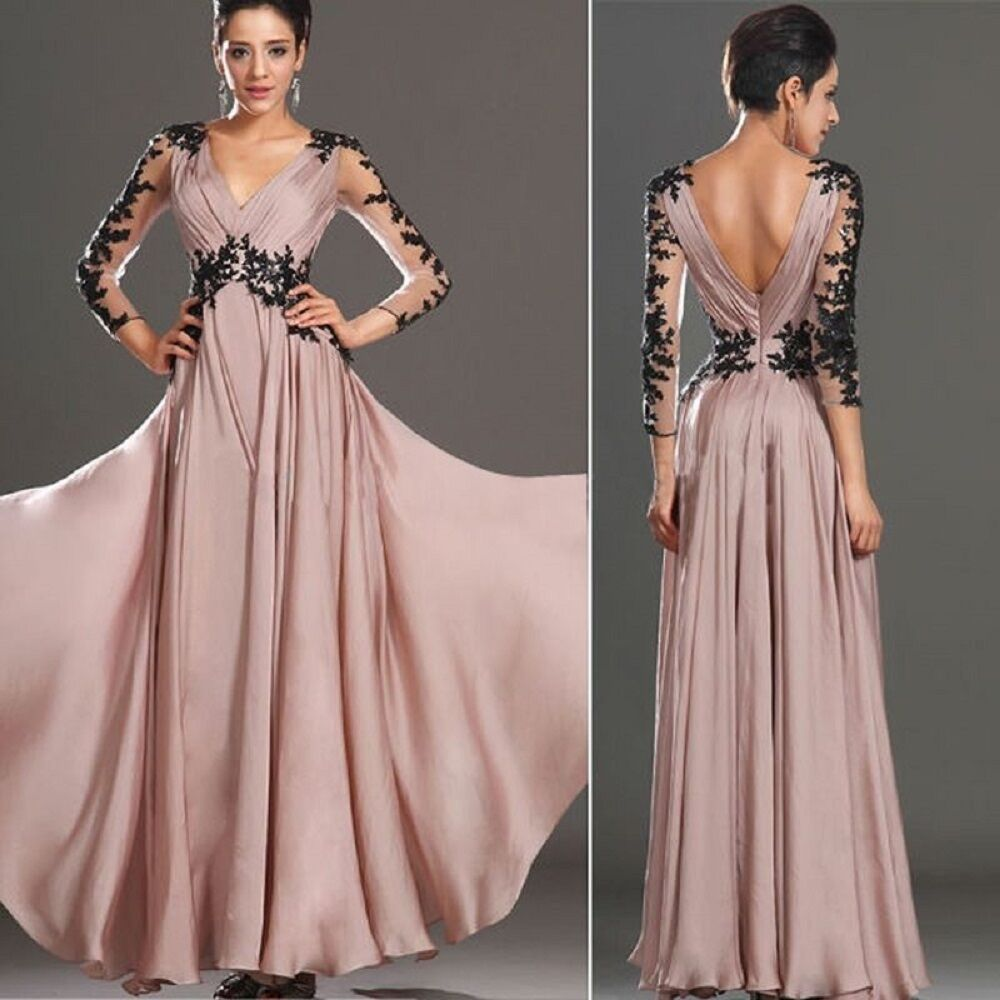 Evening formal party cocktail prom gown bridesmaid long dress ebay