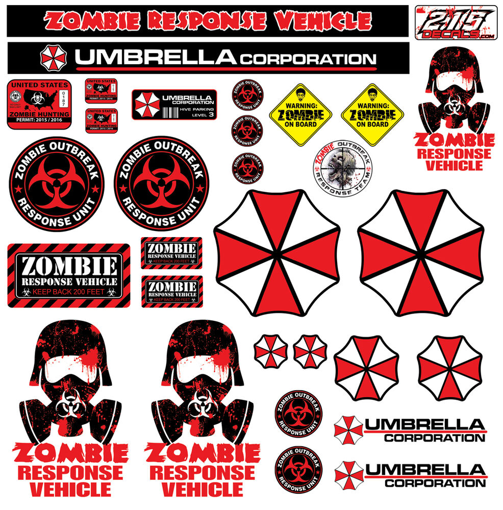 R C 1 10 Scale Zombie Decal Sticker Pack Set Body Axial