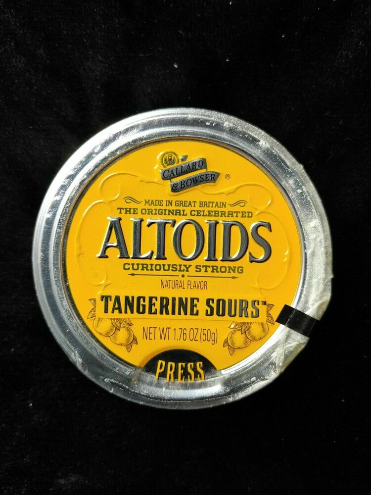 altoids sours 1 sealed tin curiously strong tangerine discontinued