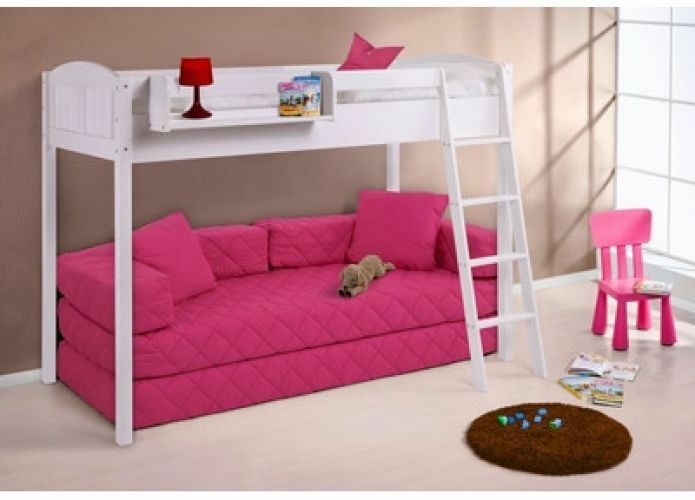 kids bedroom furniture high sleeper bunk bed sleeps 2 kids room space save sofa ebay. Black Bedroom Furniture Sets. Home Design Ideas