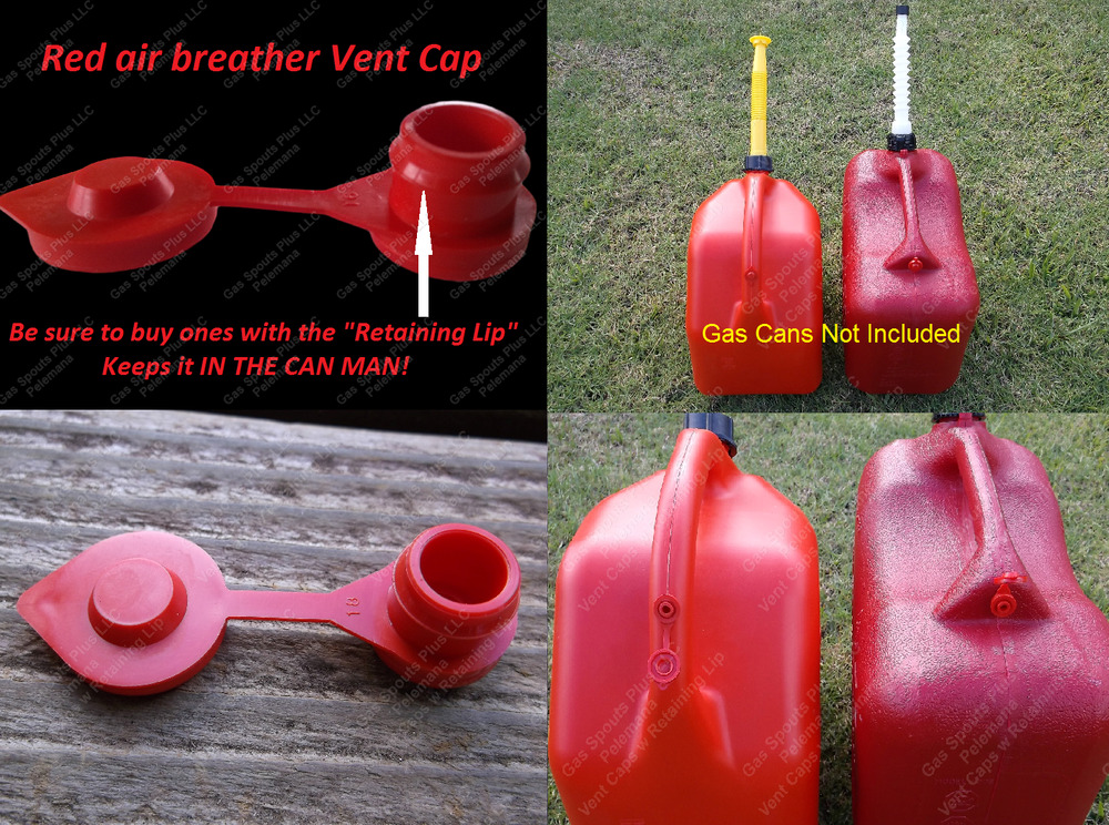 Universal Red Gas Diesel Water Fuel Can Jerry Jug Air Vent