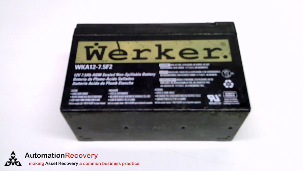Werker Wka12 7 5f2 Replacement Battery Sealed Non