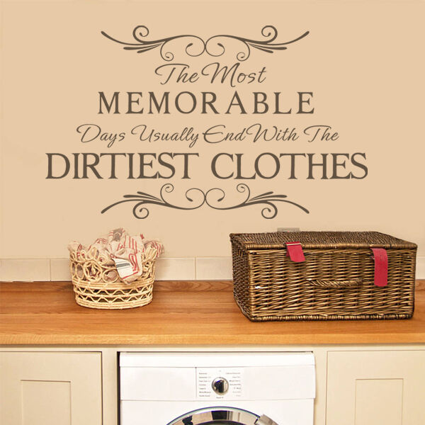 laundry room wall sticker the most memorable inspiration