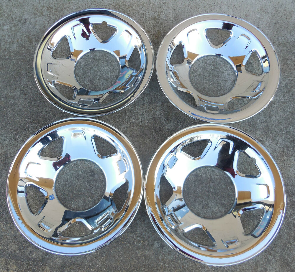 A set of Four (4) Chrome Skins for a 1993 94 95 96 97 Ford ...