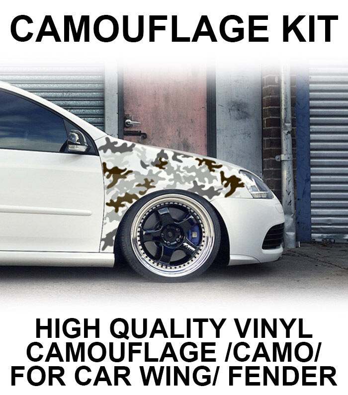 Camouflage Camo Wing Fender Stickers Jdm Wrap Vinyl For Drift Modified Car Vw Ebay