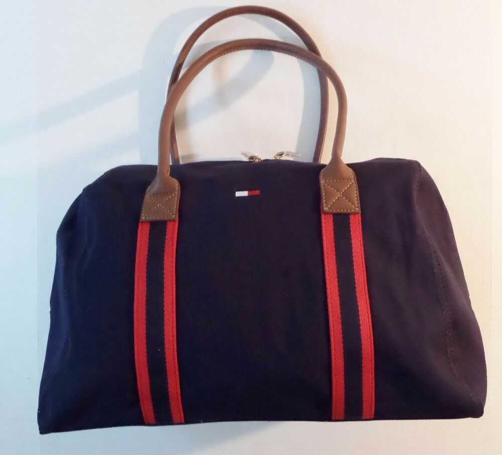 tommy hilfiger weekender totes shoppers bag travel bag ebay. Black Bedroom Furniture Sets. Home Design Ideas