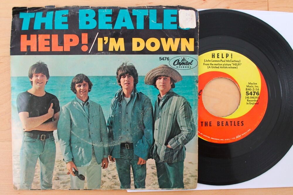 Beatles Help I M Down 45 With Picture Sleeve Capitol 5476