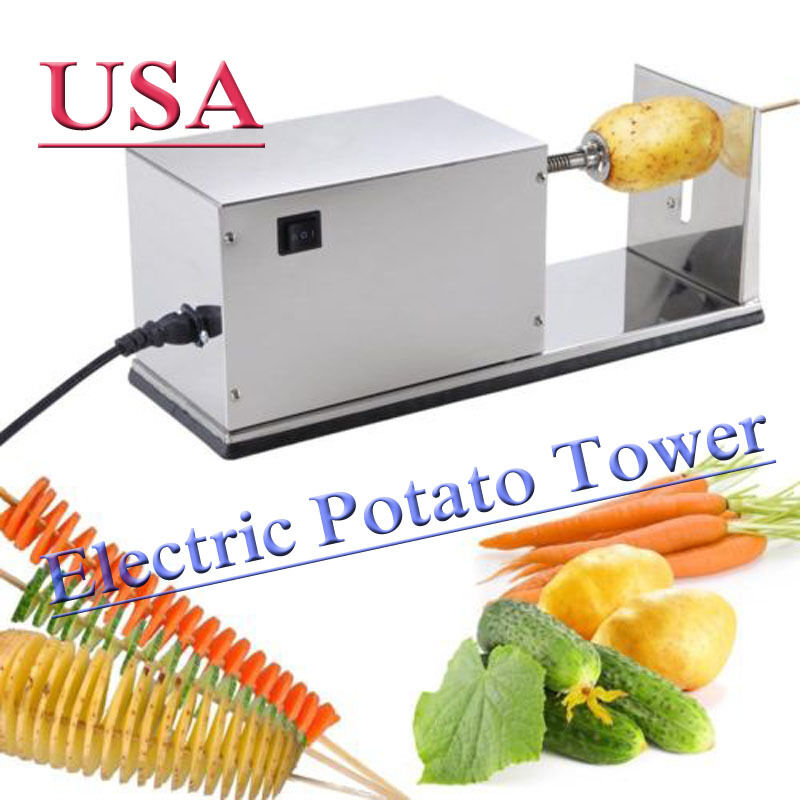 Electric Potato Slicer ~ Automatic electric potato tower chips slicer twister