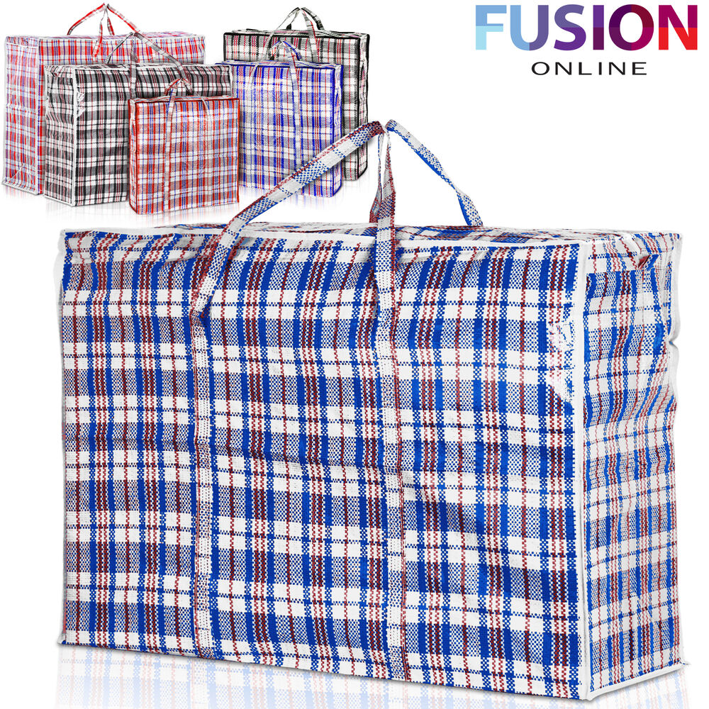Reusable Laundry Storage Bag Shopping Bags Zipped Strong