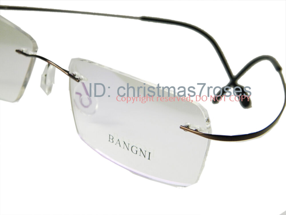 Lightweight Titanium Eyeglass Frames : RIMLESS TITANIUM EYE GLASSES FRAMES MEN flexible WRAPPED ...