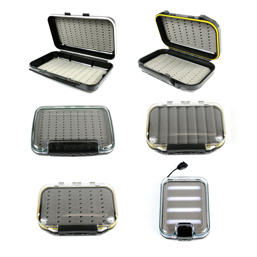 Waterproof double sided ice fly fishing tackle box lure for Fly fishing shop