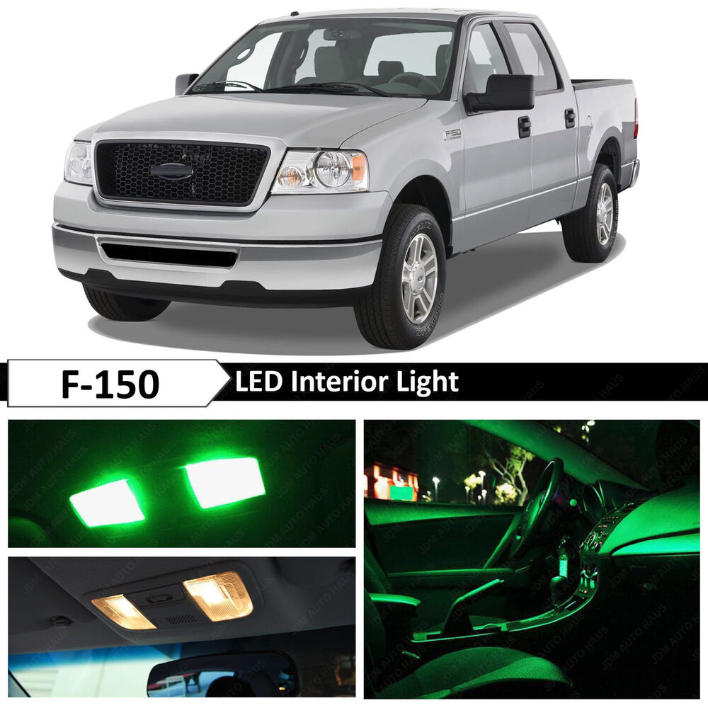15x Green Interior Map Dome Led Lights Package Kit For 2004 2008 Ford F 150 F150 Ebay